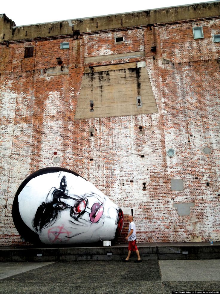 Anthony Lister arrested over the weekend and held for 10 hours for the crime of graffiti - this piece is in Brisbane. (LP)