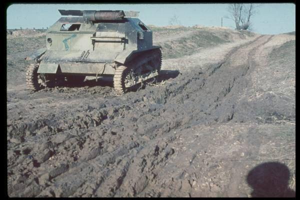 Unidentified tank taken for the Western European campaign. Polska 1939, TKS. Date taken:1939 Photographer:Hugo Jaeger
