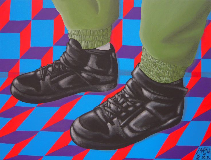 MARIETTO acrylic on canvas 40x30 cm 2015