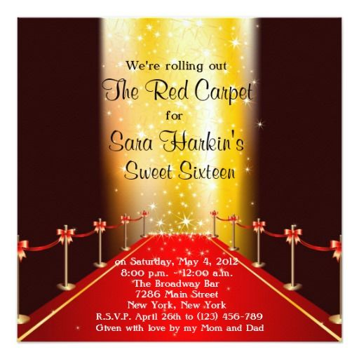 Red carpet themed invitations all the best invitation in 2018 red carpet invitation party ideas stopboris Image collections