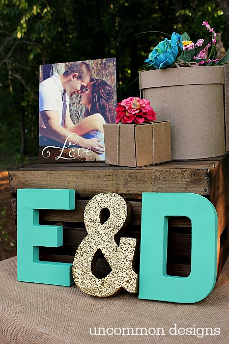 Host a beautiful and fun backyard couples wedding shower…