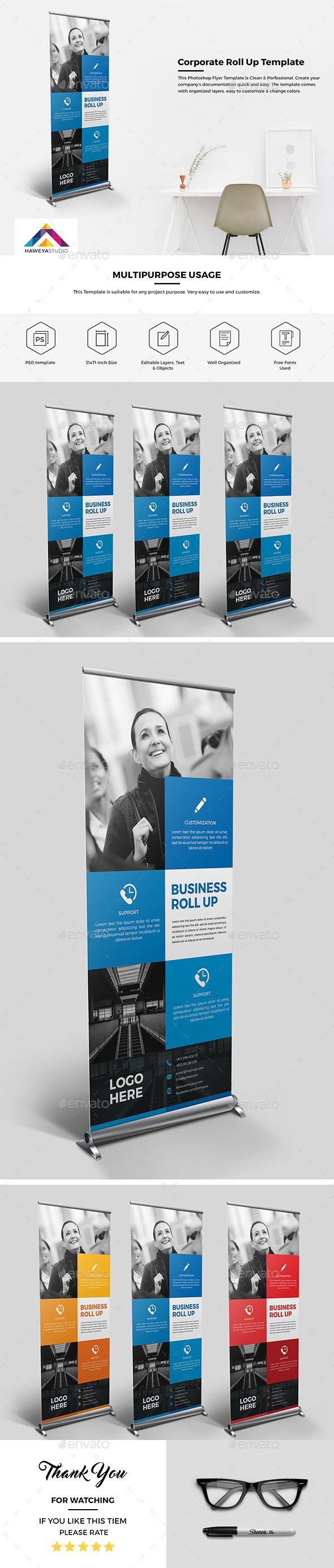 Haweya Corporate Roll-Up Template PSD. Download here: http://graphicriver.net/item/haweya-corporate-roll-up-01-/15682708?ref=ksioks