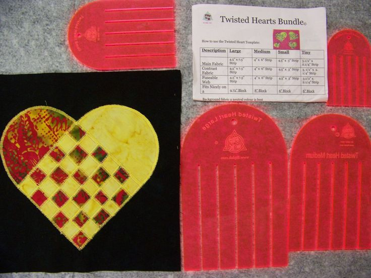 Flip la' K Twisted Hearts Bundle Templates. I love the way this heart is weaved together.