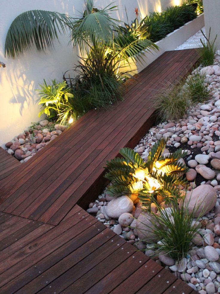 Nice Contemporary Wooden Garden Walkway Exterior