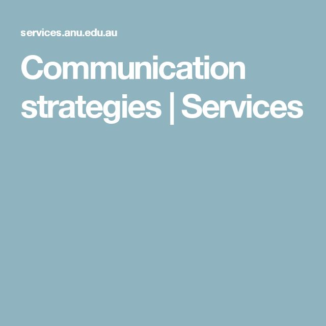 Communication strategies | Services
