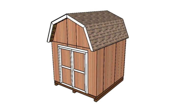 10x10 Shed Plans Gambrel Shed Howtospecialist How To Build Step By Step Diy Plans In 2020 Diy Shed Plans 10x10 Shed Plans Barns Sheds