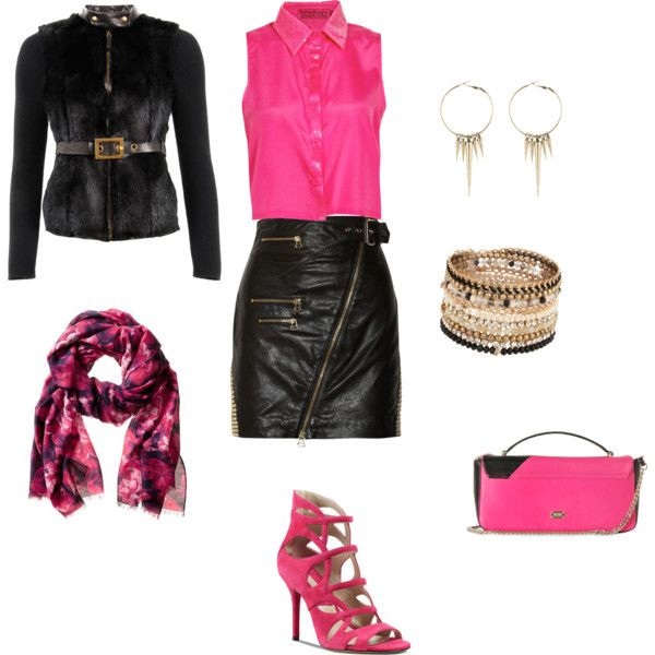 """""""Rocking Pink"""" by line-leduc on Polyvore"""