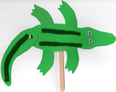 Alligator on a Stick: I swear googly eyes and metal brads make everything more fun! :) Jodi from www.CFClassroom.com