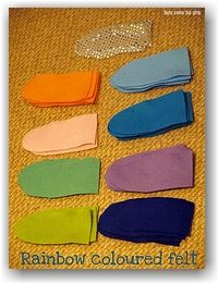 Rainbow fish costume using colored felt - DIY for book week