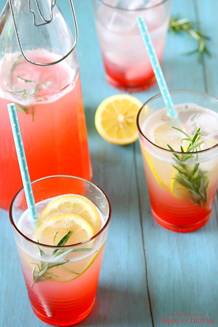 ROSE LEMONADE. Beautiful pink-hued rose flavored lemonade to beat the heat.