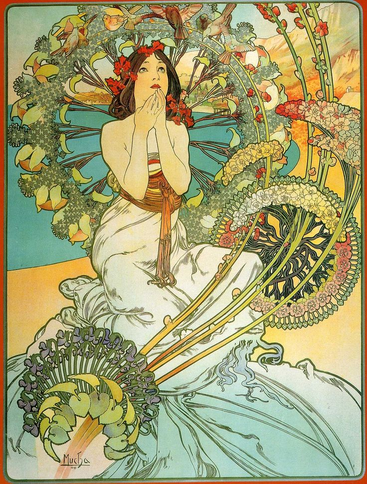 モナコ-モンテ・カルロ アルフォンス·ミュシャ | 油絵複製画 | KOSH mArt Japan