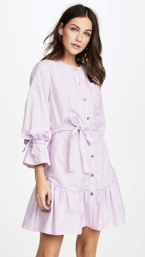 e7bea536f2 Long Sleeve Poplin Dress