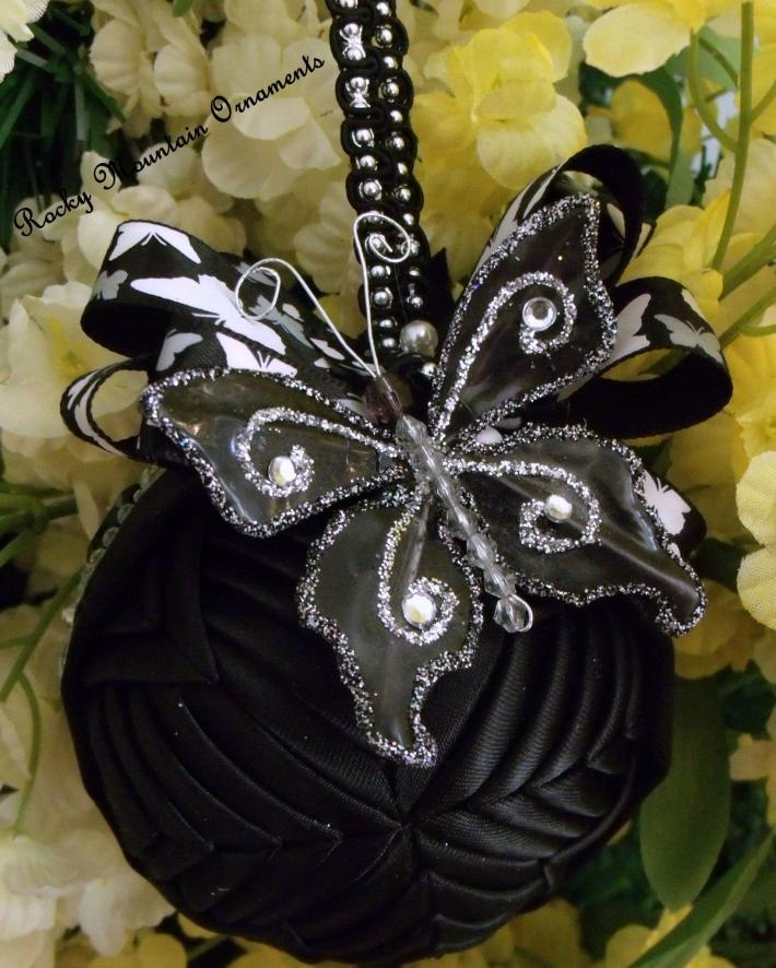Black Swallow Quilted Ornament