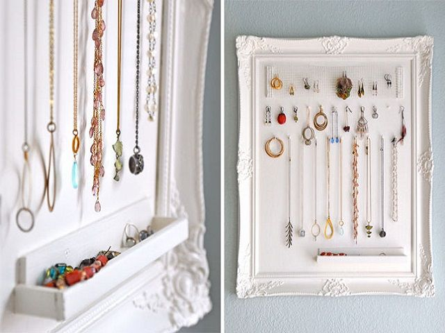 Frame and Moulding Organizer: Flea markets are prime hunting grounds for second hand hidden treasure just waiting to be repurposed, like this frame.