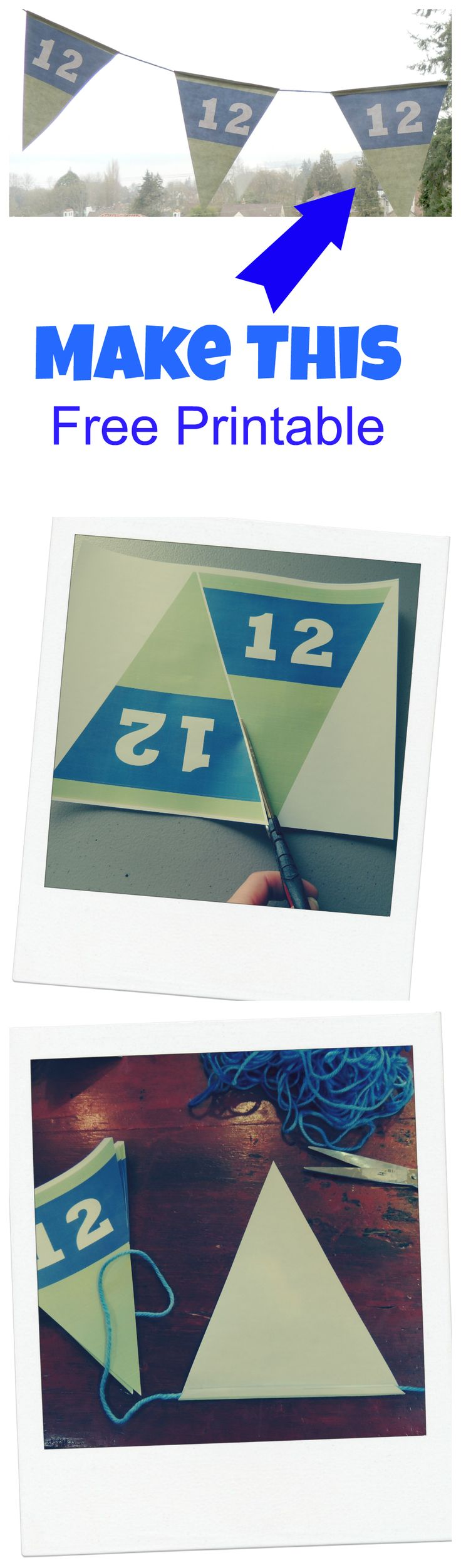 Seahawks 12th Man |Free Printable
