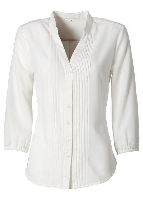 Camisa gola padre cru encomendar agora na loja on-line bonprix.de  R$ 99,90 a partir de Camisa no modelo gola de padre mangas 3/4 com elástico e nervuras ao ...