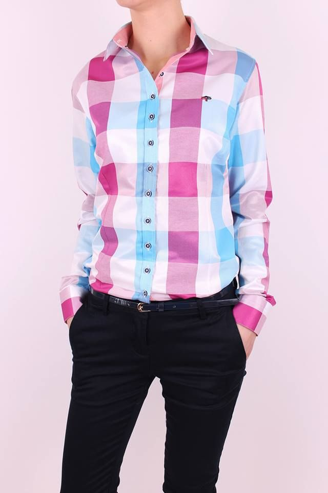 Farebná dámska košeľa oživí Tvoj outfit. Jednoducho zažiariš ;)