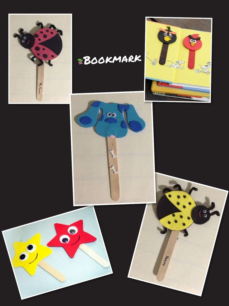 DIY. Make cute bookmarkers for your kids with their favorite characters.Use foam sheets. Have fun.