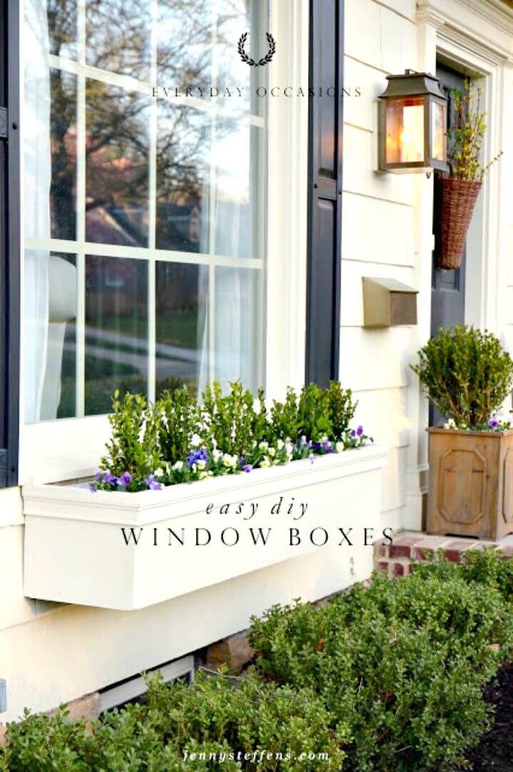 Diy Window Planter Box Ideas 14 Easy Step By Step Plans Diy