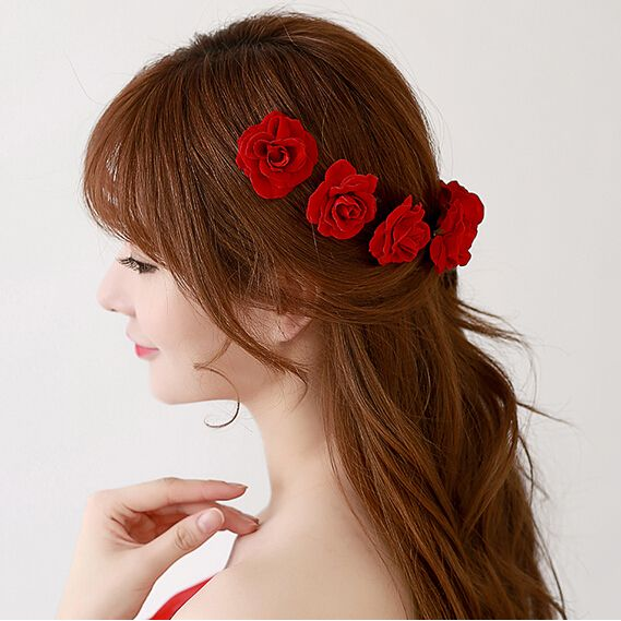 Find More Hair Accessories Information about 12pcs/lot Red Rose Flower Hair Pins. Wedding Bridal Hair Accessories Wedding Party Woman Headwear,High Quality accessories material,China accessories xbox360 Suppliers, Cheap accessories military from Hair's Art Online Wholesale Store on Aliexpress.com