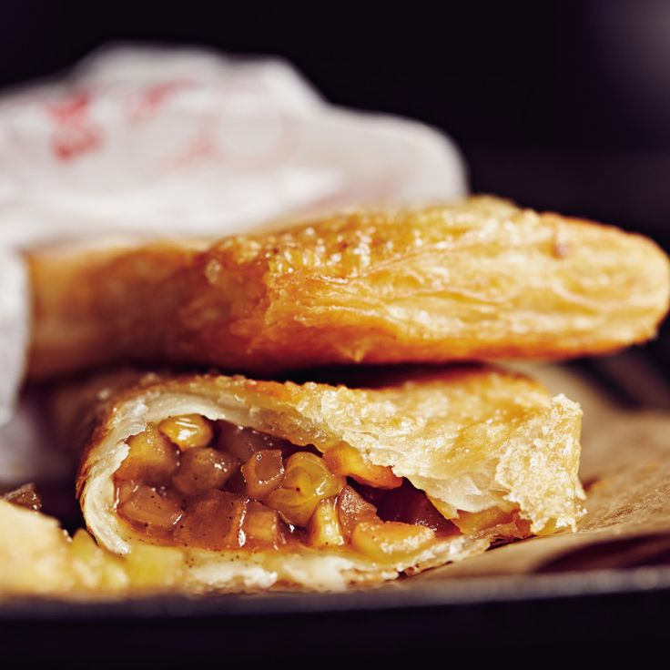 With some store-bought roti paratha and a pot of hot oil, Talde re-creates McDonald's classic deep-fried apple pie.