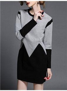 セレブ愛用 ファッション 上品切り替え細身デートワンピース