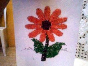 Gambar Kolase Bunga Matahari Dari Daun Kering