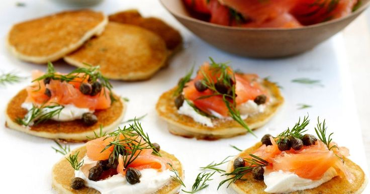 These potato blinis with smoked salmon are delicious and great for entertaining.