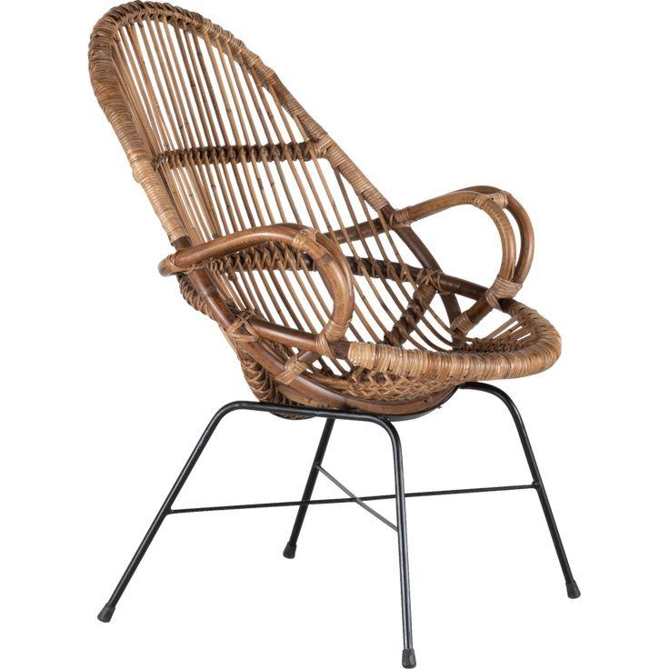 fauteuil en rotin et métal  seoune  fauteuils  alinea