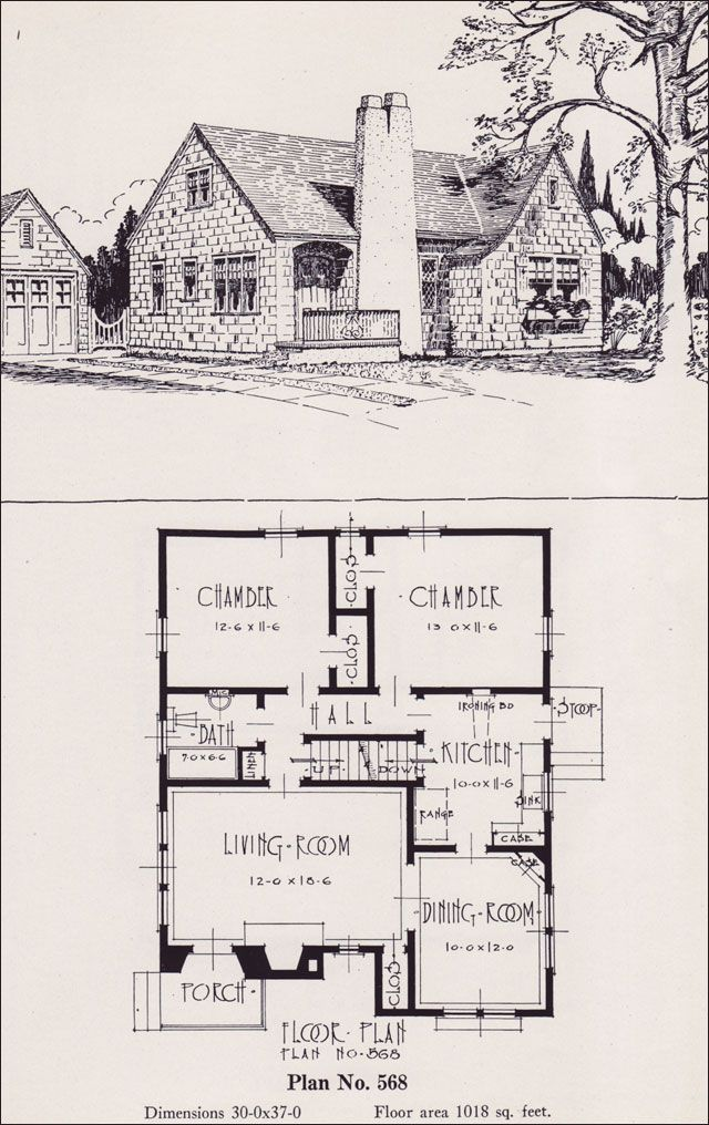 1926 portland homes universal plan services no 568 for Old english cottage house plans