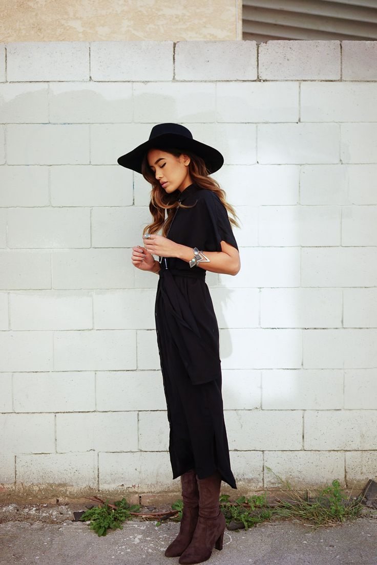 So cute! Black and Brown are very Chic together. Boho Style
