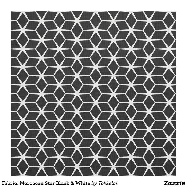 Fabric: Moroccan Star Black & White