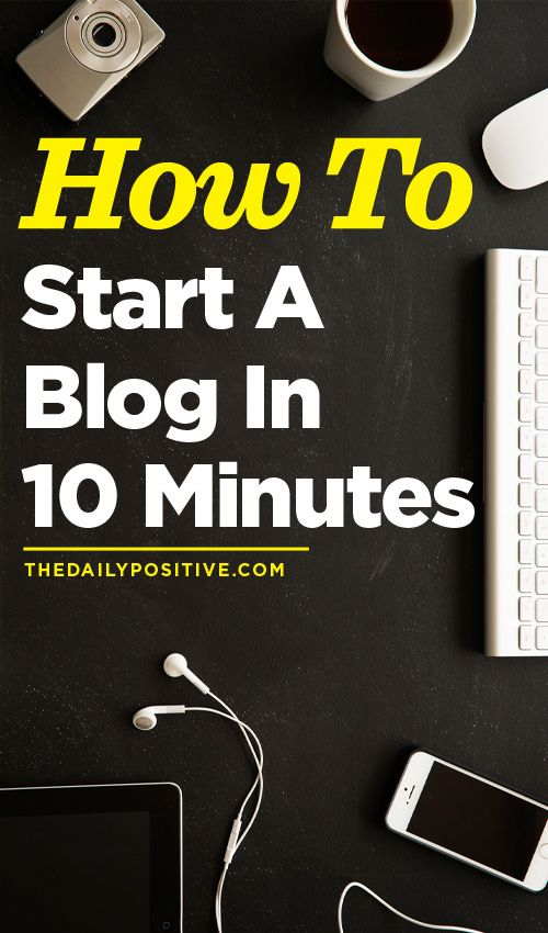 How To Set Up A Blog In 10 Minutes