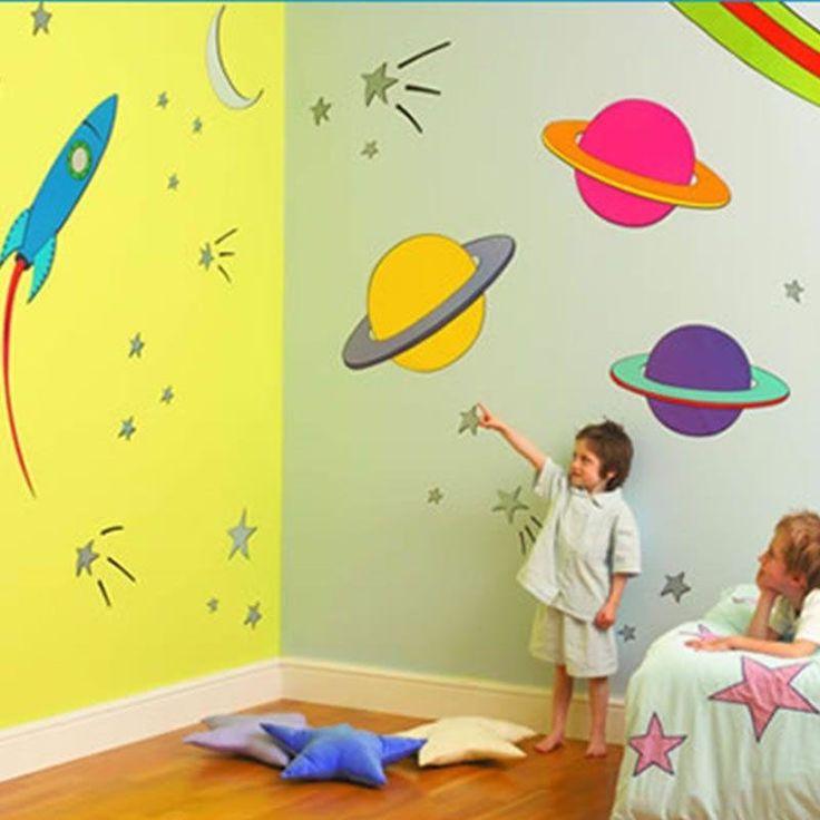 Дизайн стен в детской своими руками - Оформление стен в ...