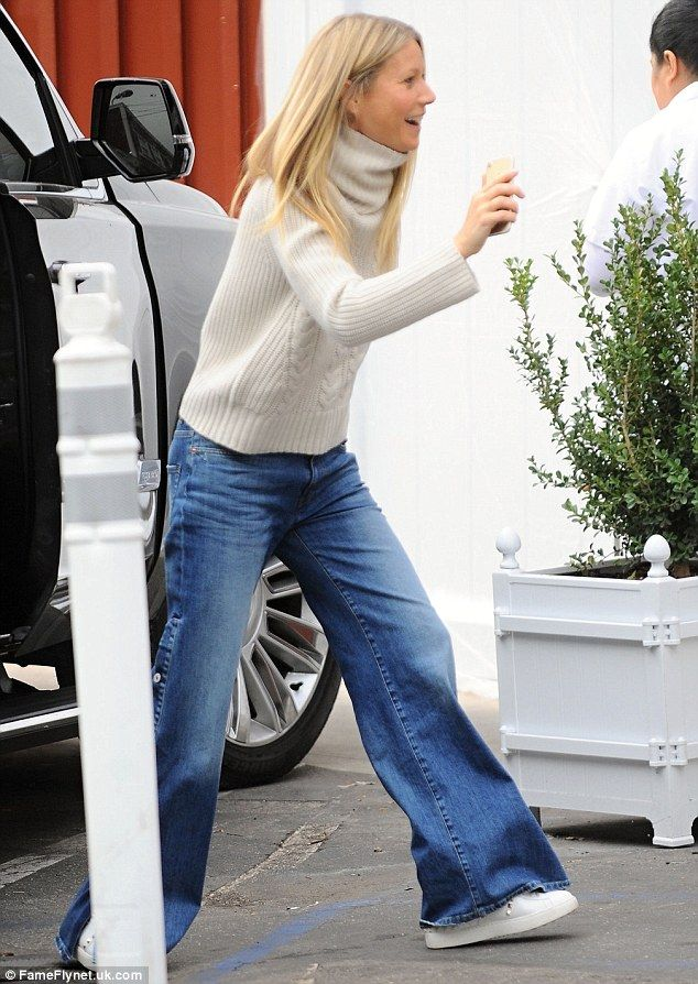 Keep cozy in Gwyneth's Nili Lotan turtleneck. Click 'Visit' to buy now. #DailyMail