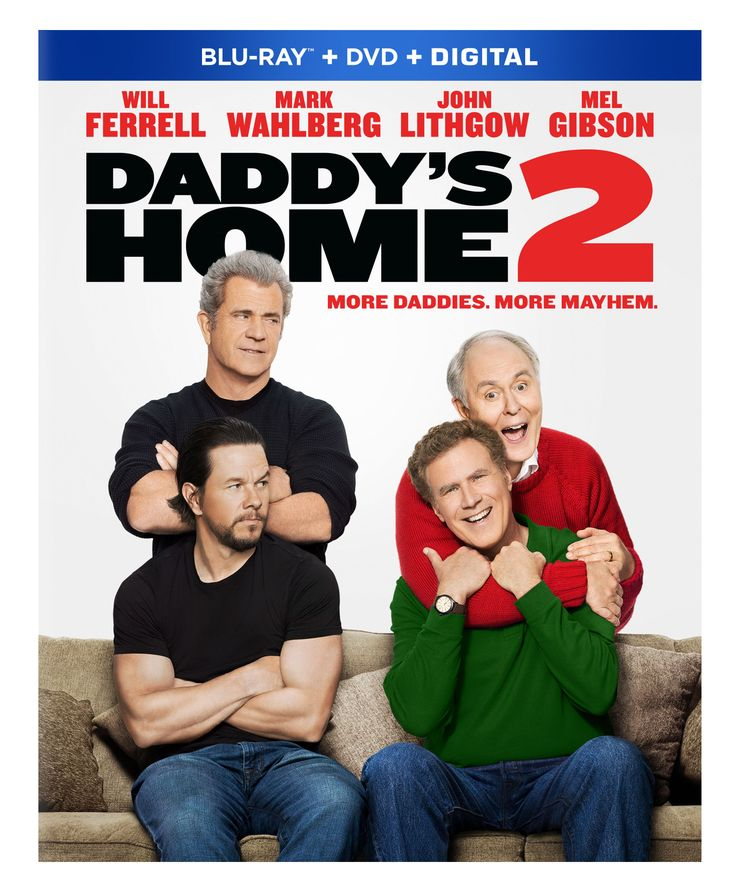 Double the Daddies with Daddy's Home 2 Giveaway. Ends 2/28/18  #daddyshome2 #giveaways #movies #dvd