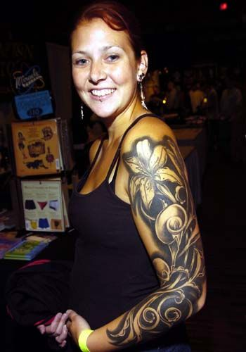lily sleeve tattoo designs ideas ___________________________ http://www.fairtattoo.com/flower/lily-tattoo/