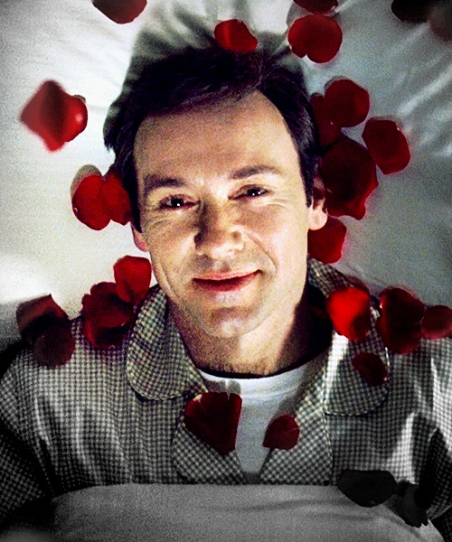 """American Beauty. 1999. Kevin Spacey as Lester Burnham: """"It's a great thing when you realize you still have the ability to surprise yourself. Makes you wonder what else you can do that you've forgotten about."""""""