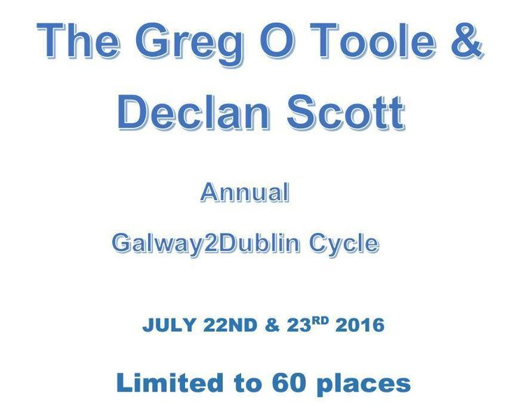 The Greg O Toole & Declan Scott Annual Cycle, €200.00