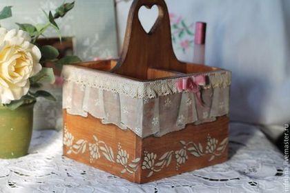 """Купить Короб для хранения """"Деревенский шик"""" - коричневый, короб, короб для хранения, короб для ванны, спальня"""