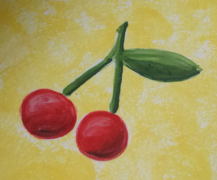 Hand painted cherry tile. This will brighten up any kitchen! http://greta63.wix.com/notallwhite