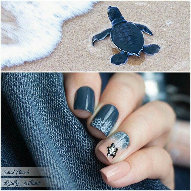 11 best Cool nails images on Pinterest   Turtle nail art, Turtle ...