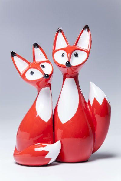 Διακοσμητικό Fox Couple (Σετ 2 τεμάχια)