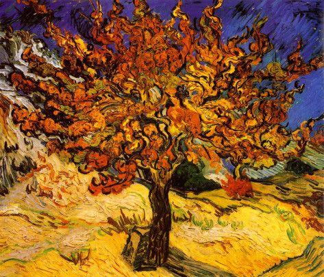 The Mulberry Tree - by Vincent van Gogh - c.1889 http://www.voteupimages.com/the-mulberry-tree-vincent-van-gogh-1889/