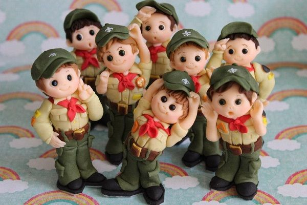 Cute Boy Scouts cake toppers