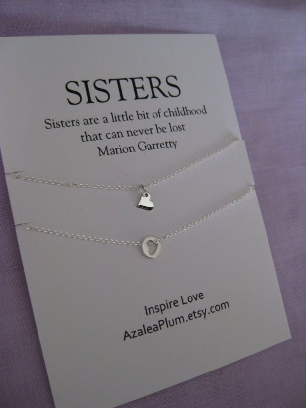 Sisters Necklace. SISTER jewelry. Sister Gift. Maid of Honor Gift. Best Friends Gift. Inspirational Jewelry