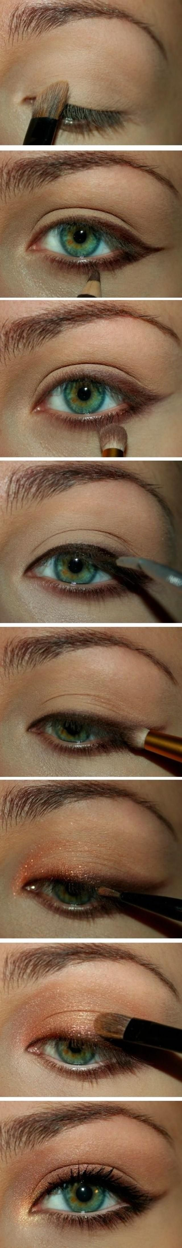 a step by step tutorial on how to put the copper-gold combination to your eyes. A very simple eye make-up but the sophistication is absolutely evident.