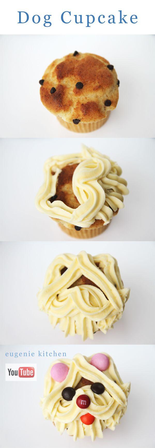 Dog Cupcake Decorating Tutorial - Eugenie Kitchen