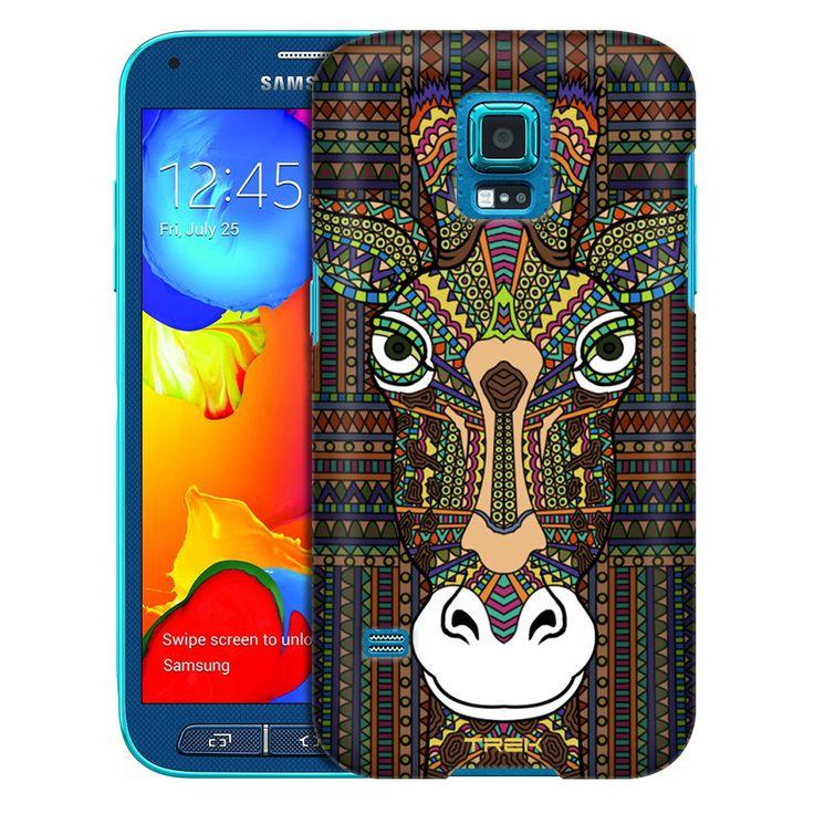 Samsung Galaxy S5 Sport Aztec Giraffe Head Trans Case