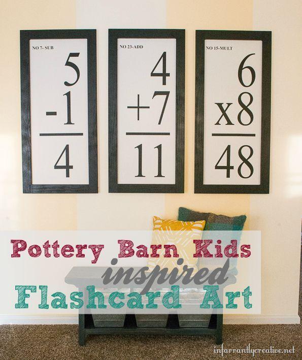 DIY Wall Art | Pottery Barn Kids knockoff flashcards